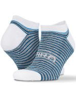 3-Pack Mixed Stripe Coolmax Sneaker Socks White / Grey / Blue