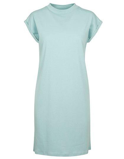 Ladies Turtle Extended Shoulder Dress Blue Mint