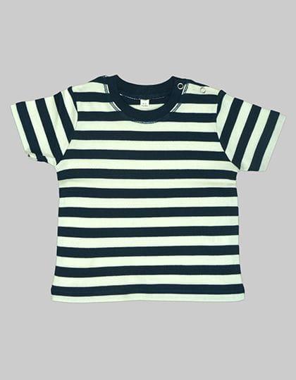 Baby Stripy T Navy / Washed White