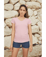 T-Shirt mit V-Ausschnitt (eng geschnitten) - Fruit of the Loom