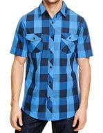 Buffalo Plaid Woven Shirt Black - Blue (Checked)