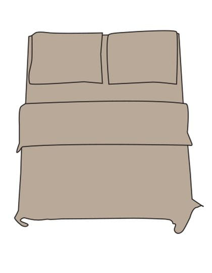 Fitted Sheet - Double L Chateau Grey
