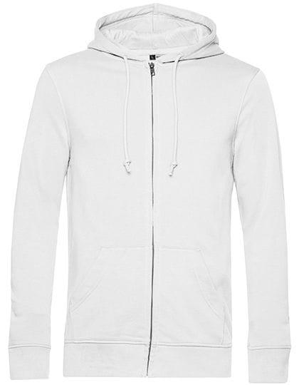 Organic Zipped Hood Jacket White