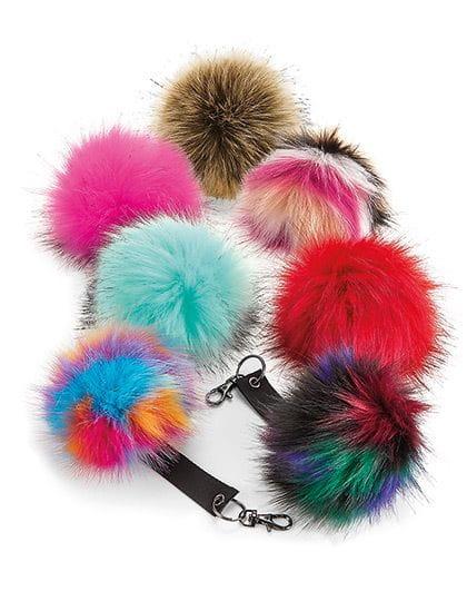 Faux Fur Pop Pom Key Ring
