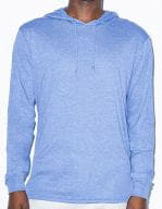 Unisex Tri-Blend Longsleeve Hoodie Athletic Blue