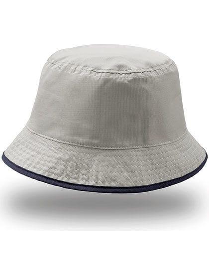 Bucket Pocket Hat Navy / Grey