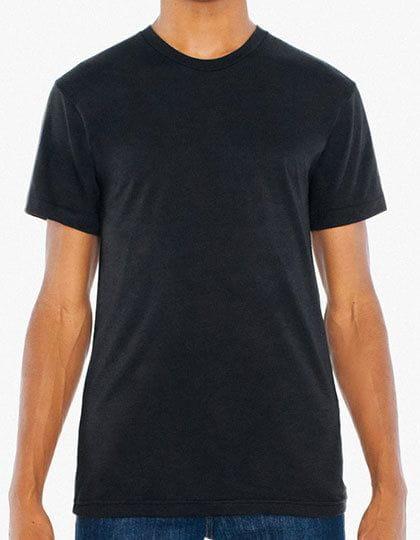 Unisex Poly-Cotton Short Sleeve Crew Neck T-Shirt Black