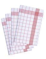 Geschirrtuch kariert (10-er Pack) Red (ca. Pantone 200C) / White