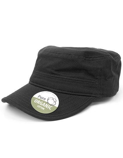 Organic Cotton Army Cap washed Black