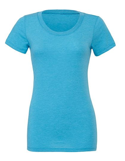 Triblend Crew Neck T-Shirt Woman Aqua Triblend (Heather)