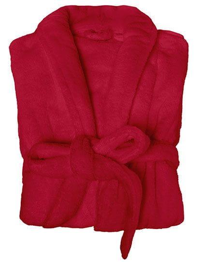 Coral Fleece Bathrobe Lady Jester Red