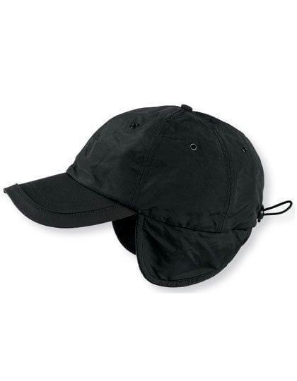 Techno Flap Cap Black