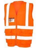 Executive Cool Mesh Safety Vest Fluorescent Orange