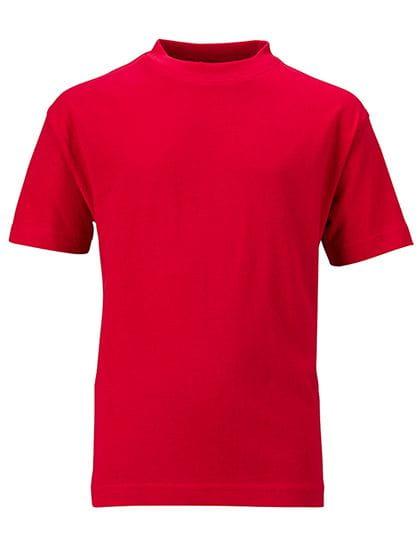 Basic T-Shirt für Kinder (normaler Schnitt) - James & Nicholson
