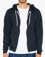 Unisex Flex Fleece Zip Hooded Sweatshirt Black