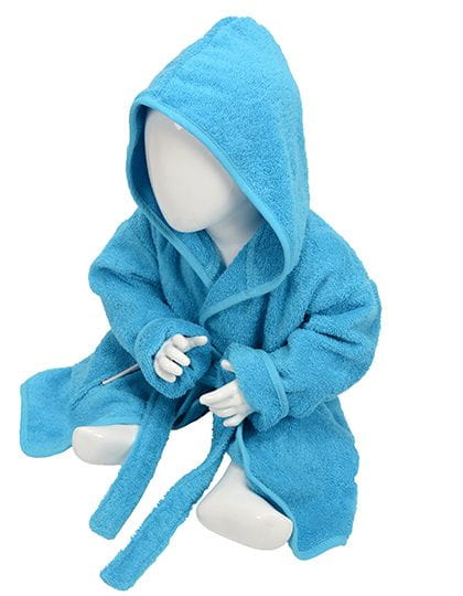 Babiezz® Bathrobe with Hood Aqua Blue / Aqua Blue