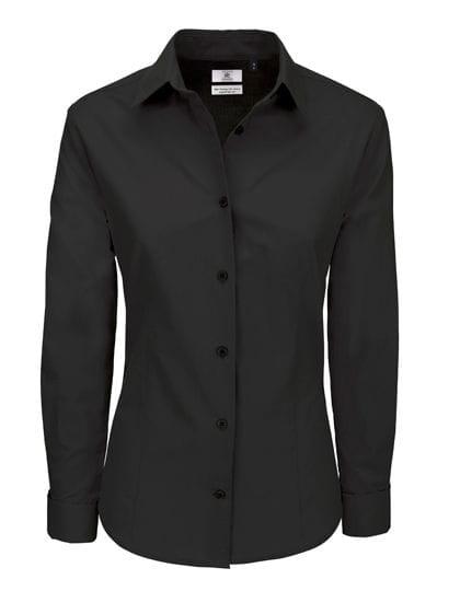 Poplin Shirt Heritage Long Sleeve / Women Black