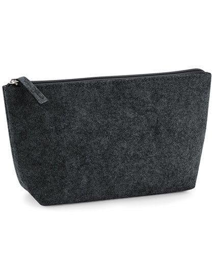 Felt Accessory Bag Charcoal Melange