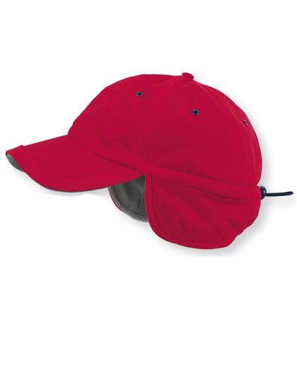Techno Flap Cap Red