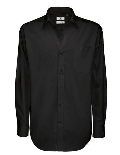 Twill Shirt Sharp Long Sleeve / Men Black