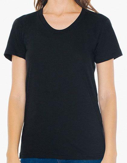 Women`s Poly-Cotton Crew Neck T-Shirt Black