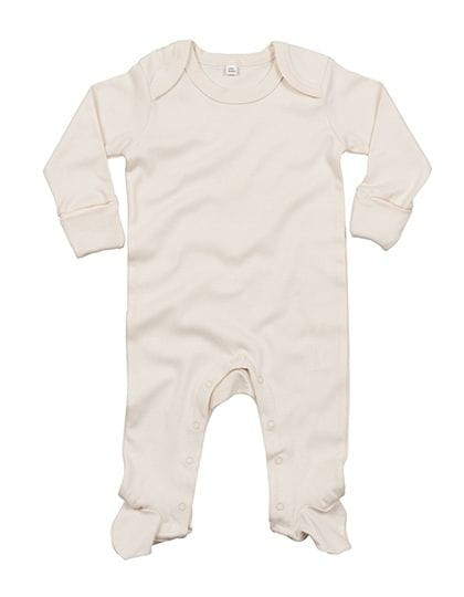 Baby Organic Sleepsuit with Scratch Mitts Organic Natural
