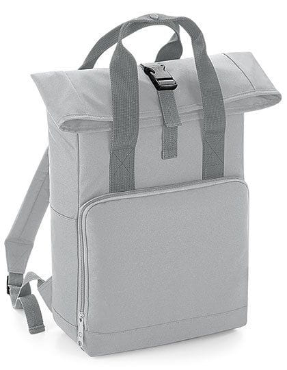Twin Handle Roll-Top Backpack Light Grey
