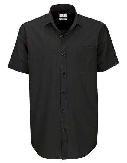 Poplin Shirt Heritage Short Sleeve / Men Black