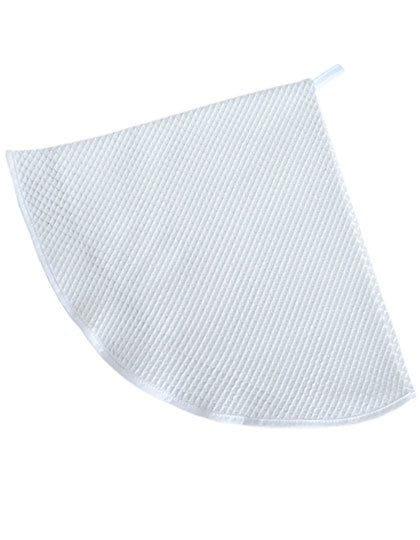Waffle Round Kitchen Towel White