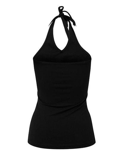 Ladies` Neckholder Shirt Black