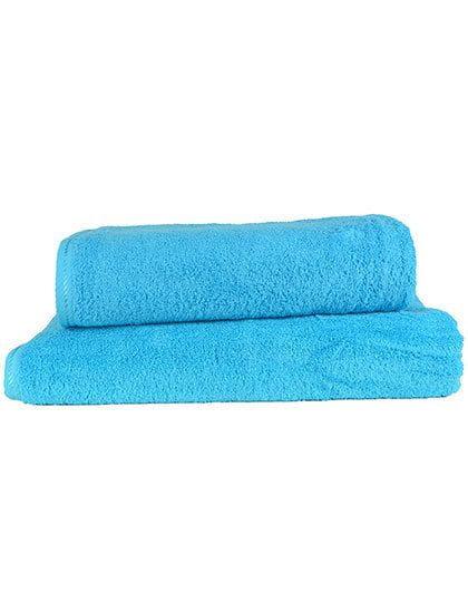 Bath Towel Aqua Blue